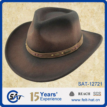 07a971d05 Wool Felt Outdoor Hat / Vintage Wool Felt Crushable Cowboy Hat - Buy  Outdoor Hat,Cowboy Hat,Vintage Crushable Hat Product on Alibaba.com