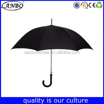 Automatic 24 Inch Fashion Crooked Handle Fancy Beach Umbrella