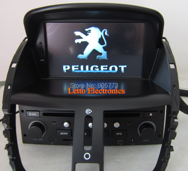peugeot 207 car stereo with gps bluetooth ipod radio rds touch screen canbus steering wheel. Black Bedroom Furniture Sets. Home Design Ideas