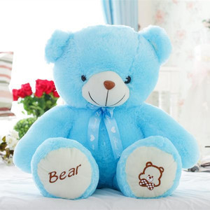 Teddy Bear Push Toy Lovely Blue Bear Many Size To Choose Lover's Gift Birthday Gift Many Size To Choose