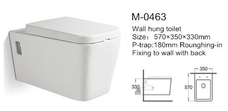 Bathroom porcelain wall hung ce japanese wc