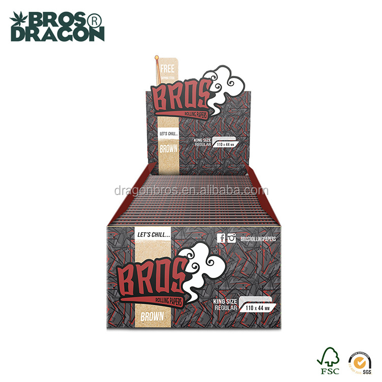 rolling paper smoking custom your own arabic gum king size pure hemp paper