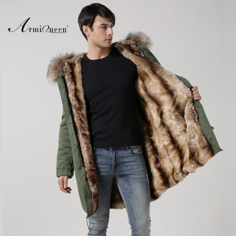 Popular New Style All Season Wear Natural Raccoon Hoodies Waterproof Long Cotton Down Parka, Picture and customized