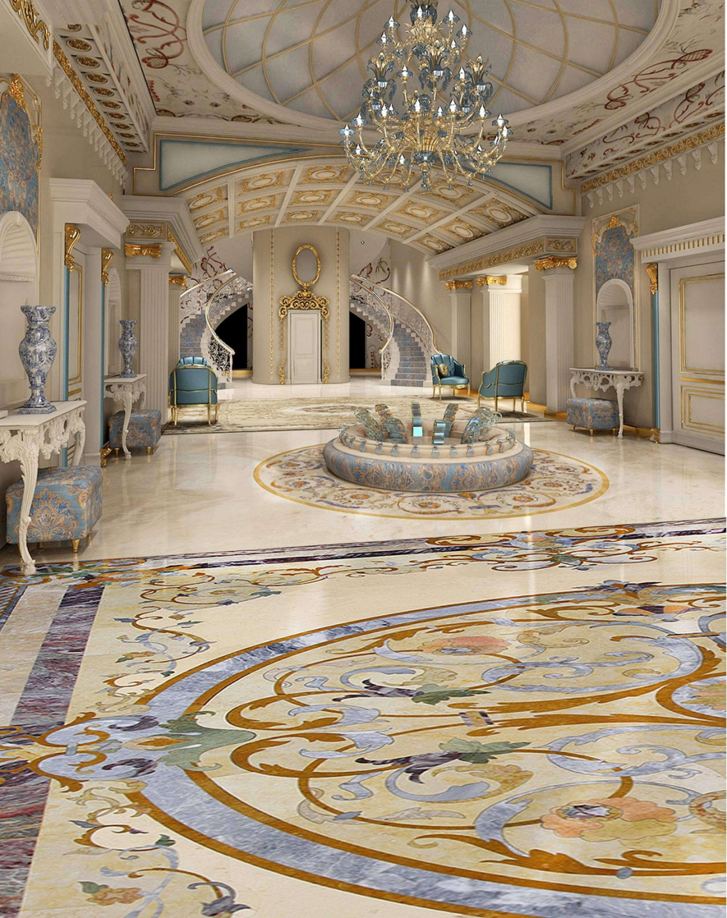 Custom pictures waterjet cutting floor flower tiles design marble custom pictures waterjet cutting floor flower tiles design marble medallion tile lowes dailygadgetfo Images