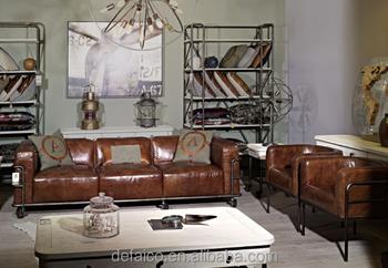 Sofa Loft loft style water pipe frame living room leather sofa sets buy loft