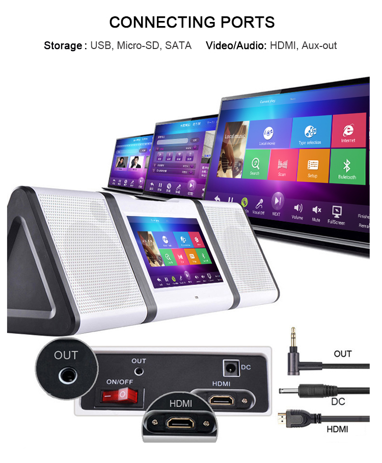 10 1 Inch Android Portable Karaoke Player With Battery Built In Wifi Vhf  Wireless Mics - Buy Wifi Touchscreen Karaoke Player,4 2 2 Android Tablet