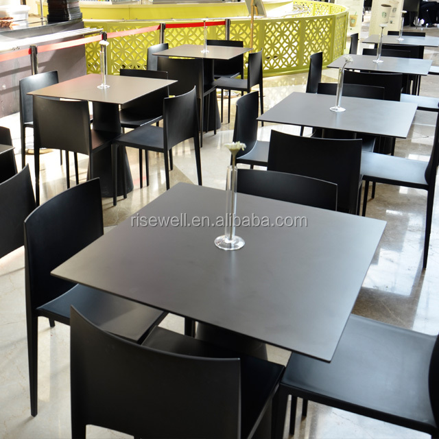 Debo simple HPL design restaurant dining table and chairs cafe furniture wholesale