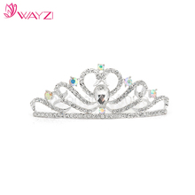 wayzi brand beautiful hair accessories wedding jewelry crowns and tiaras bridal silver tiara