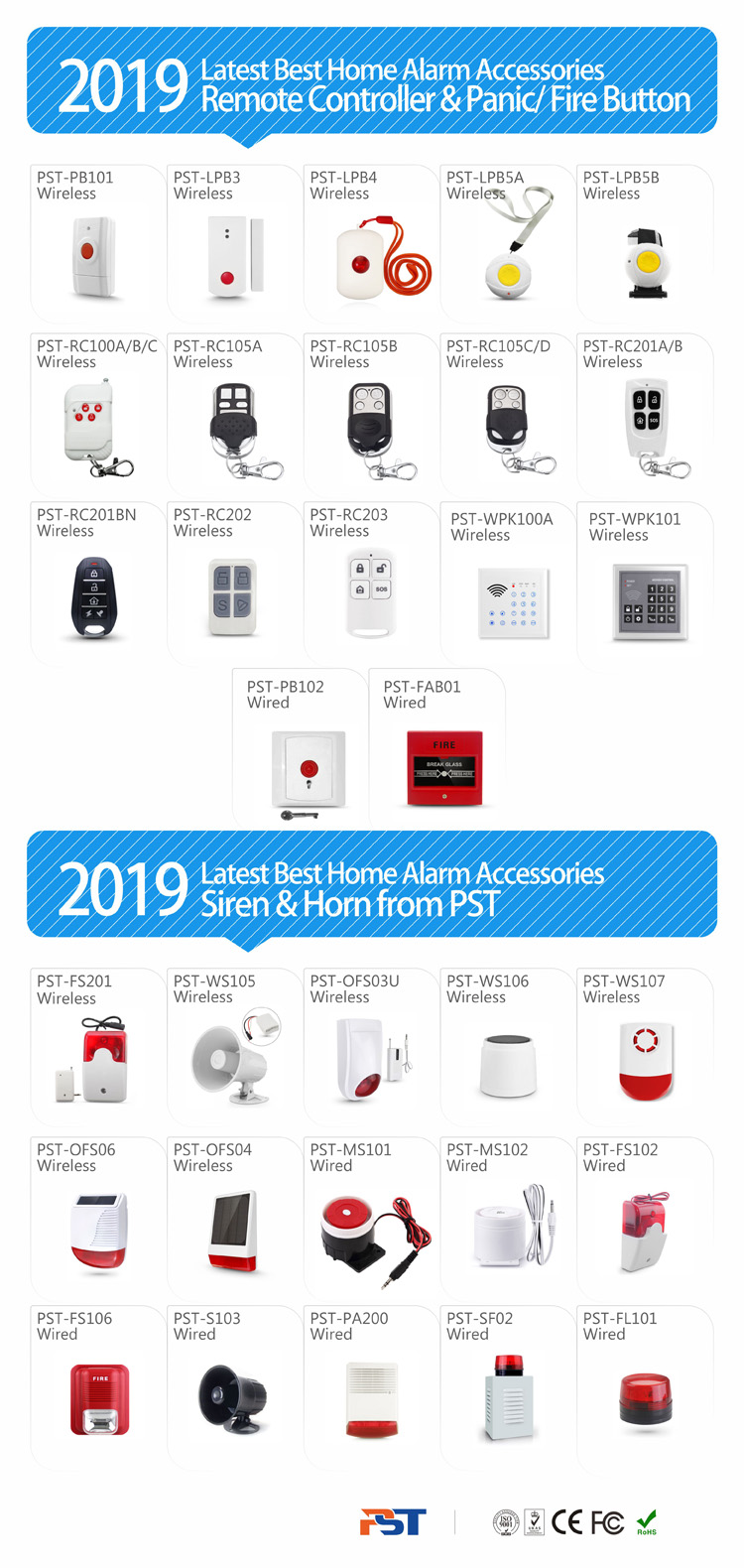 Fashionable burglar alarms! safe home security!! portable alarm systems PST-PG992TQ