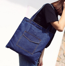Kamus brand Wholesale Fashion Denim Shoulder Bag cowboy Handbag Jeans tote shoulder bag