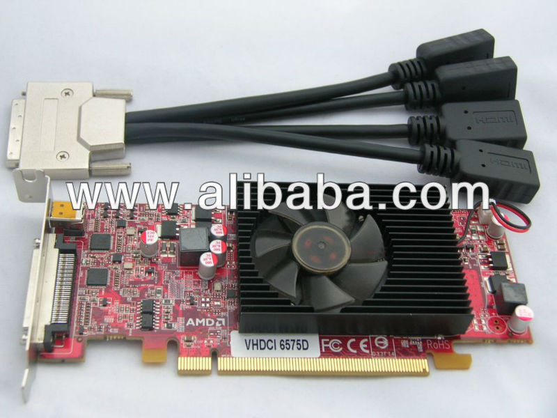 100% NEW AMD ATI Radeon HD 6570 5-DVI-OUTPUT 512m ddr5 128bit PCIE-16x dx11