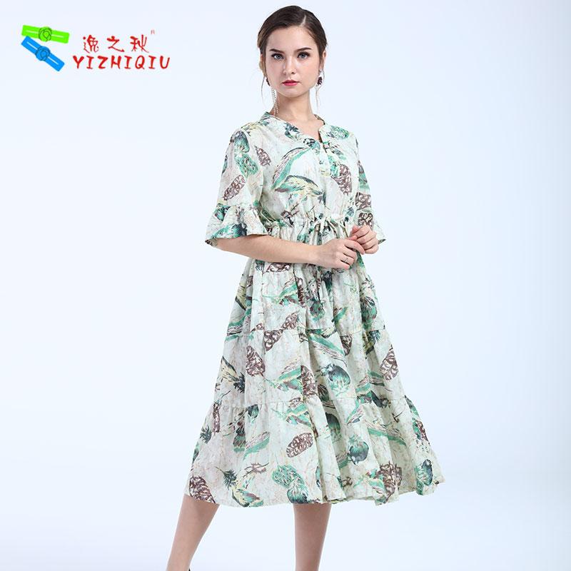綿美しいデザイナー服女性レディースドレス長袖