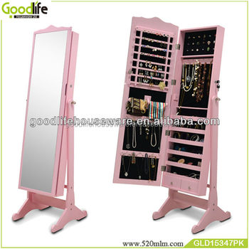 Home Furniture Pink Jewelry Armoire Fulllength Mirror Buy Pink