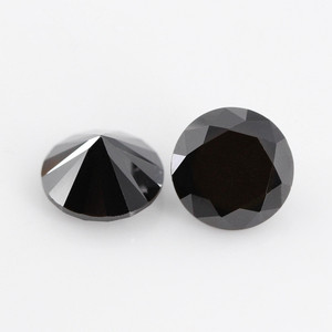 synthetic black rough stone cubic zirconia gems