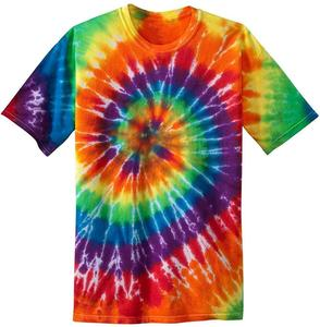 Colorful Tie Dye T Shirts In 17 Colors Summer Round Neck Irregular Pattern Men T Shirt Skateboard Cool Slim Fit Streetwear Tops