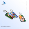 Cheap family/lover digital picture/photo printed plastic keychains