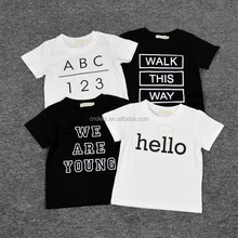 New Arrival Baby Words Print CottonT-shirt Fashion Kids Boys Sports Short-sleeved T-shirt Children's Cool Summer Clothes