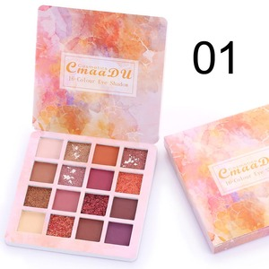 MYG low MOQ Private Label custom Make Up Cosmetics 16 colors makeup loose glitter eyeshadow