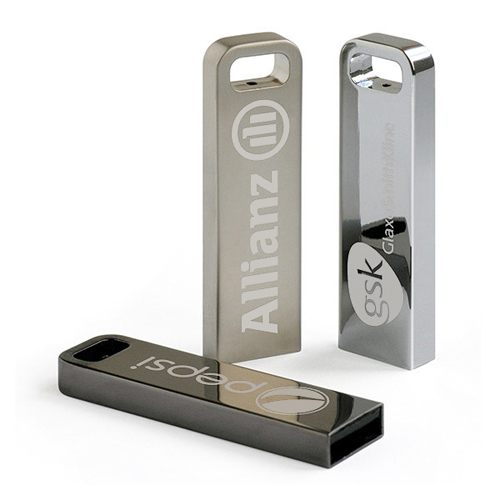 Di vendita caldo trade show regalo USB 2.0 interfaccia un lato inciso a laser il logo 16 gb del metallo usb flash drive