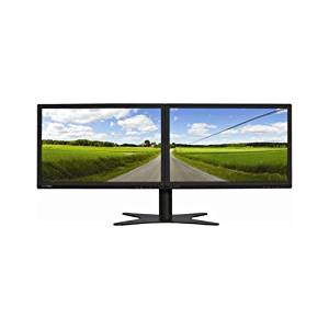 DOUBLESIGHT DISPLAYS DS-1900WA Dual 19 Widescreen LCD Monitor with Flex Stand 1440X900 1000:12 VGA (Black)
