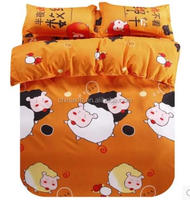 indian cartoon kids bedding set 4pcs duvet quilt comforters cover bed linen for king queen