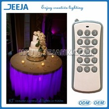 Battery Operated 2016 wireless new product remote controller led under table lighting decoration mariage