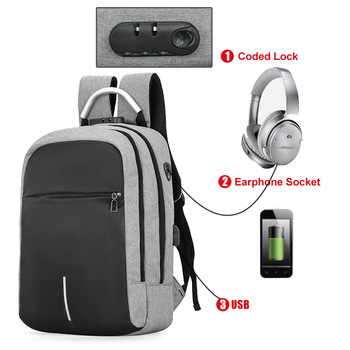 New bag travel bags waterproof USB multifunctional backpack for laptop computer bag charging anti-theft backpack