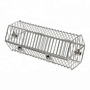 Stainless Steel Round Tumble Rotisserie Spit Rod Basket Fits for Any Grill
