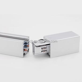 track rail lighting. 4 wires led track rail with aluminum for lighting 50cm 100cm 200cm e