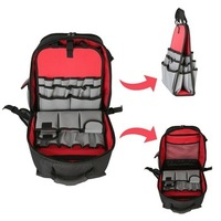 Hangzhou Manufacturer Electrician Heavy Duty Backpack Tool Bag with Plastic Base