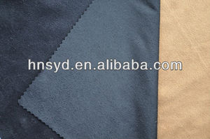 Deerskin suede solid dyed fabric