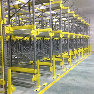 Flexible Drive Through Pallet Rack , Automated Cold Storage Radio Shuttle Car System