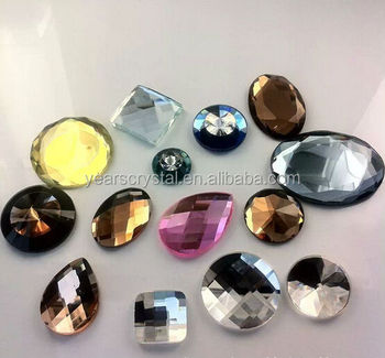 Crystal craft fancy flat back stone for shoes and bags for Where to buy rocks for crafts