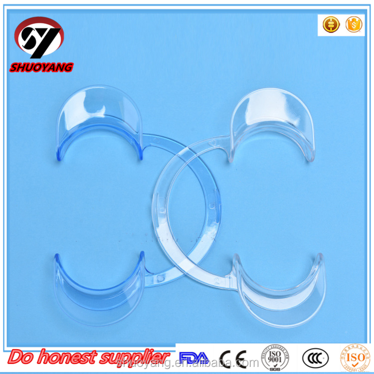 Transparent and blue Lip Opner Dental Cheek Retractors /Mouth Opener C Type