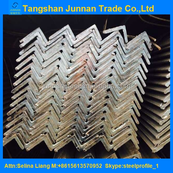 High quality Container load S235JR hot rolled equal / unequal angle steel/ angle iron steel size for construction framework