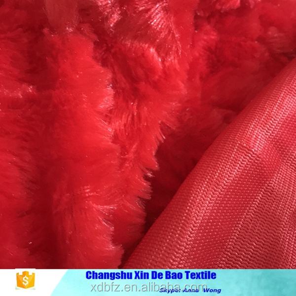 china factory supply long pile fur fabric for woman cloth