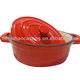 cast iron enamel mini casserole