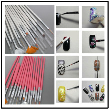 White/pink to choose 15pcs/set  Nail Art Design Brushes Gel Set Painting Draw Pen Polish Nail art tools set