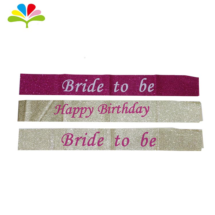 Bachelorette Party Supplies bride to be satin sash bride to be