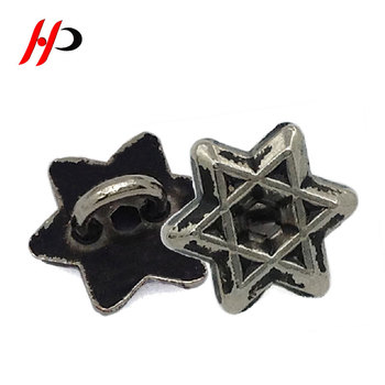 Hollow Small 10mm Antique Silver Embossed Metal Zamak Child Coat Art Star  Shaped Button Maker - Buy Star Shaped Button,Star Shaped Button Maker,Coat