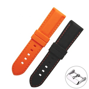 Multi Sizes Stitching Replacement Silicone Rubber Watch Band Strap