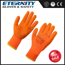 Orange Vinyl long latex gloves