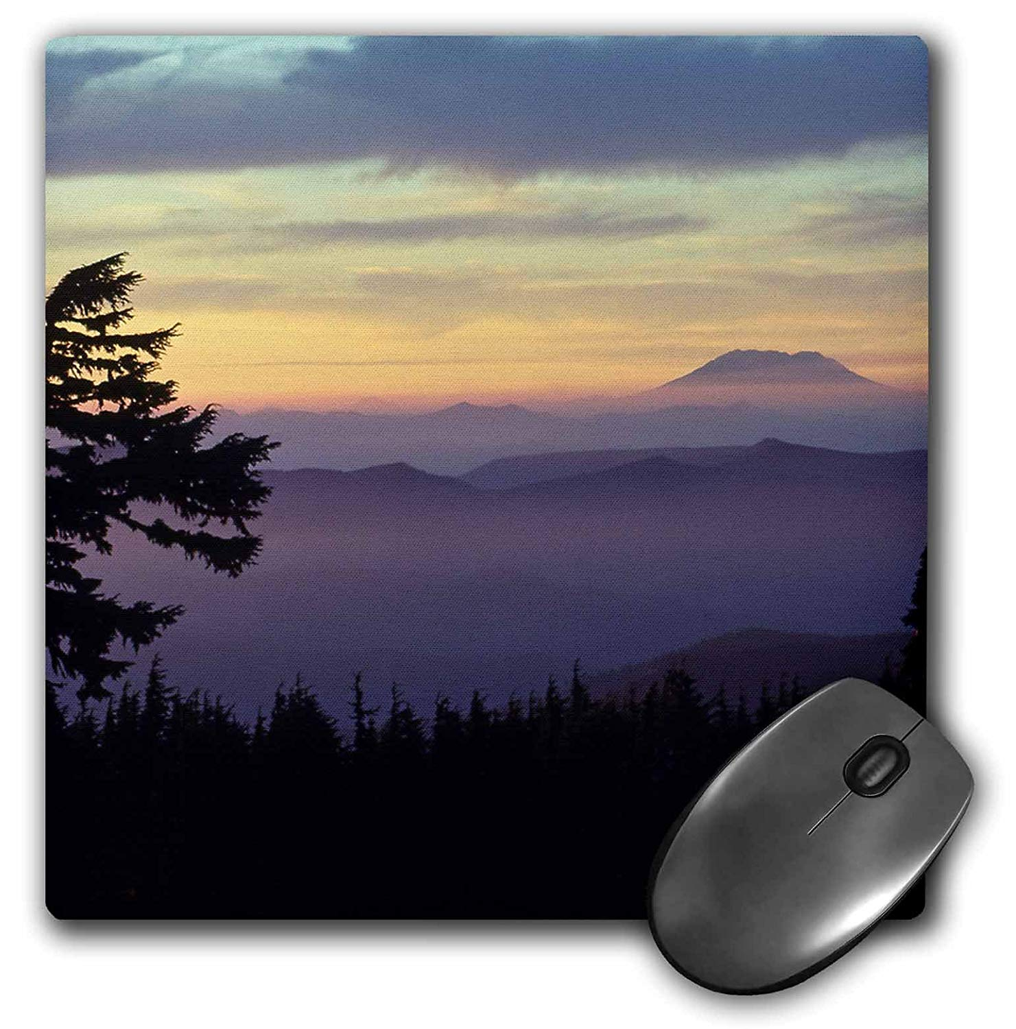 3dRose LLC 8 x 8 x 0.25 Inches Mouse Pad, Washington, Mt. St Helens From Mt. Hood Wilderness, Jaynes Gallery (mp_95116_1)