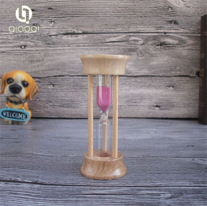 Home Decor Promotional Mini Wood 3 minute Egg Timer Sand Hourglass