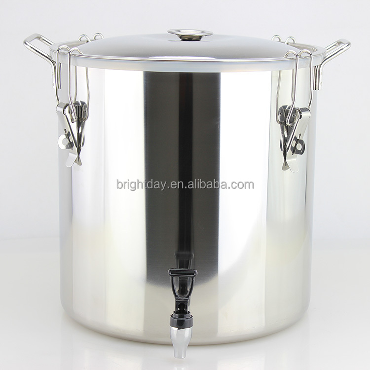 50/100/120 liter sealing barrel stainless steel &metal steamer stock pot