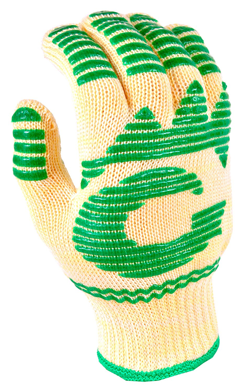 G & F 1684S Dupont Nomex & Kevlar Heat Resistant Gloves, Oven Gloves, BBQ Gloves, Large, 1 Piece