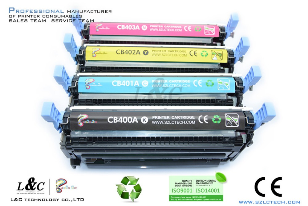 Top Consumable Products CB400A/CB401A/CB402A/CB403A Toner Cartridge for Colors Laser Printer