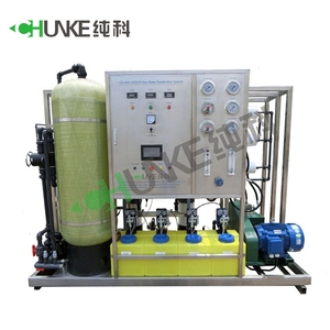 1000LPH Salt Water Treatment System For Water Factory / Commercial Water Purifier / RO System For Brackish Water Purifier