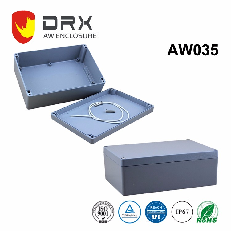 White gray Aluminum waterproof dustproof enclosure/case/box/housing for electional project