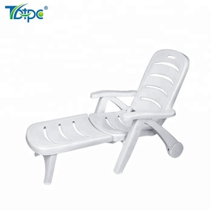 polypropylene material, plastic sun lounger for beach